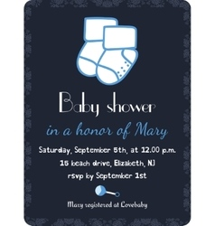 Baby shower invitation card template Invitation vector image