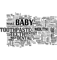 Baby war on plaque attack text word cloud concept vector