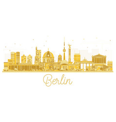 berlin city skyline golden silhouette vector image vector image