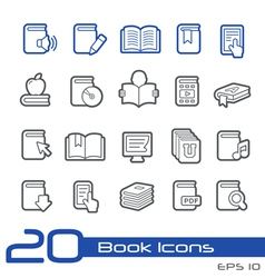 Books Icons Outline Series vector image