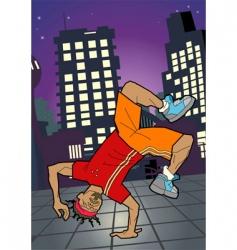 break-dancer illustration vector image vector image