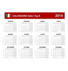 Calendar 2014 Italy Type 9 vector image vector image