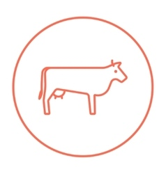 Cow line icon vector image