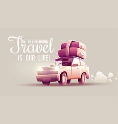 family travel vacation drive vector image vector image
