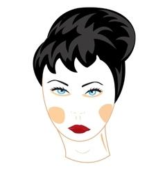 Feminine person vector image vector image