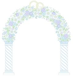 Floral wedding arc vector