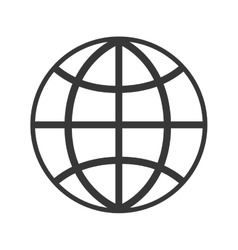 global sphere isolated icon vector image