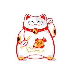 Japanese lucky cat vector image vector image