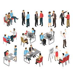Job interview respondents set vector