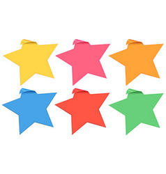 Label template with stars in six colors vector