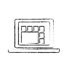 Laptop computer graph work technology vector