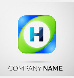 Letter h logo symbol in the colorful square vector