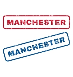 Manchester rubber stamps vector