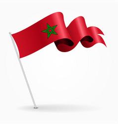 moroccan pin wavy flag vector image vector image