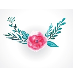 rose watercolor vector image vector image