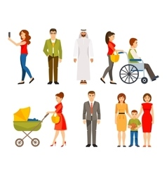 Set of different people vector image vector image