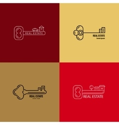 Set of logos of keys vector image