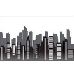 Silhouette of modern city vector
