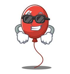 Super cool balloon character cartoon style vector
