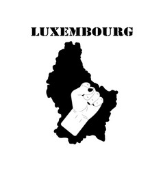 Symbol of luxembourg and map vector