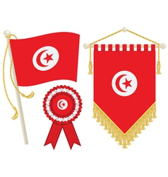 tunisia flags vector image