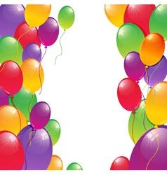 Festive balloons vector image