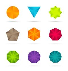 Business design elements icon set vector