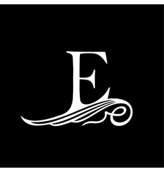 Capital letter e for monograms emblems and logos vector