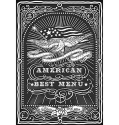 Vintage graphic blackboard for american menu vector