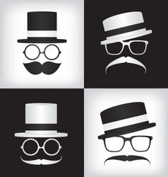 Hipster and gentleman vector
