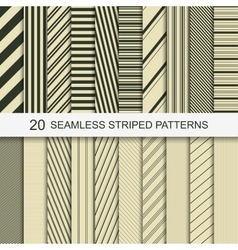 20 seamless striped patterns vector