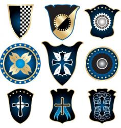 Shields and medals vector