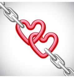 Heart shaped chain vector