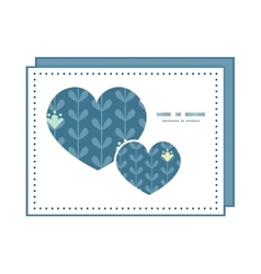 Blloming vines stripes heart symbol frame vector