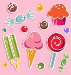 Candies and sweet vector