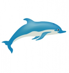 Fish dolphin on white vector