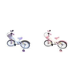 Set of Children Bicycle Isolated vector image