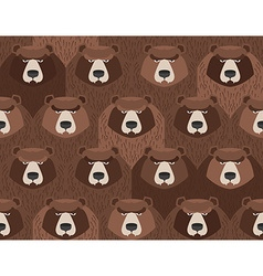 Flock of bears seamless pattern of animals vector