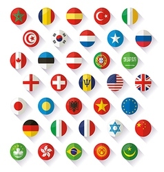 Flag of world icons vector