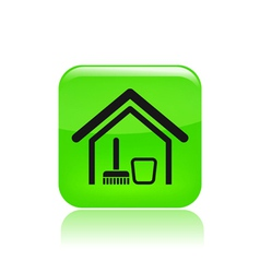 Clean house icon vector