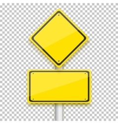 Road Yellow Sign Realistic EPS10 vector image