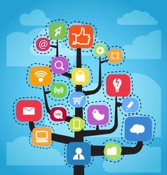 Media tree vector image