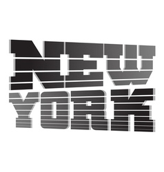 T shirt typography graphics new york lines vector
