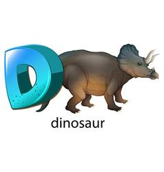 A letter D for dinosaur vector image