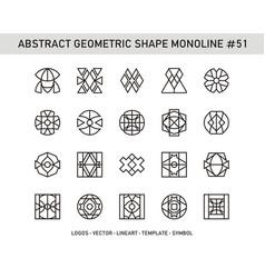 Abstract geometric shape monoline 51 vector