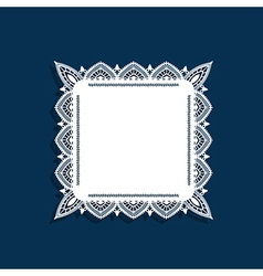 Blue and lace border vector image vector image
