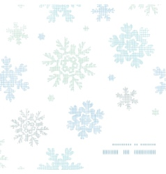 Blue Christmas Snowflakes Textile Texture Frame vector image