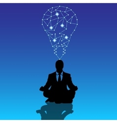 businessman manager in yoga pose meditate vector image