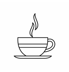 Cup of hot drink icon outline style vector image vector image