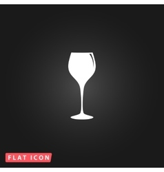 elegant wine glass vector image